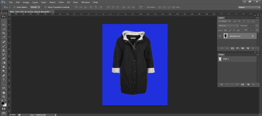 Quick mask selection -clipping path tutorial