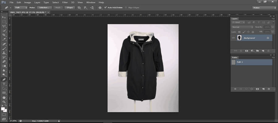 Open an image for clipping- clipping path tutorial