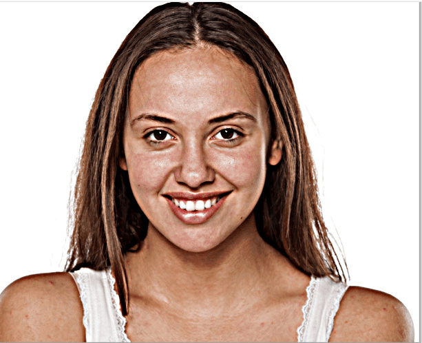 high pass effect- Photoshop face retouching