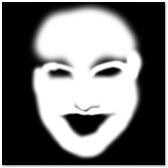layer mask thumbnail- Photoshop face retouching