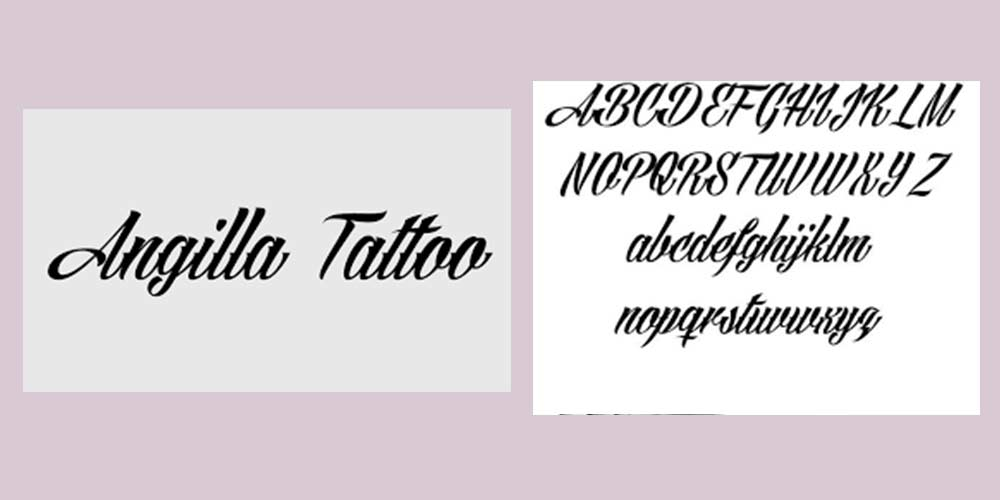 ANGILLA-TATTOO fonts for graphic designers