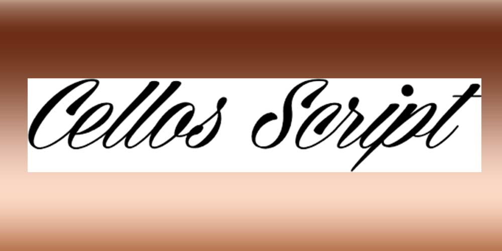 CELLOS-SCRIPT fonts for graphic designers
