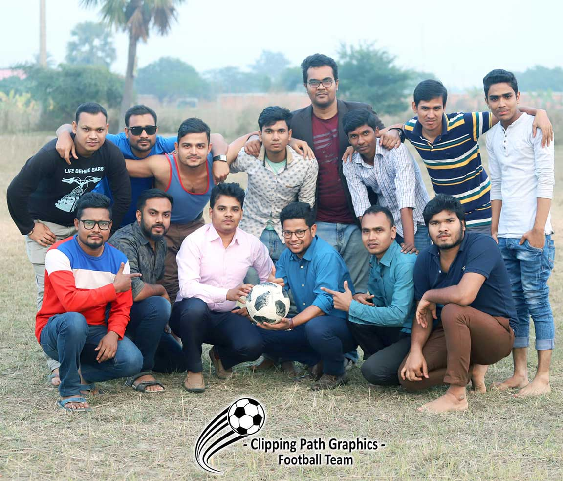 Clipping path graphics Football Team