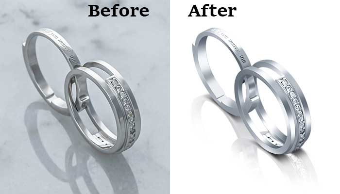 Jewelry image editing and enhancement-Clipping path graphics