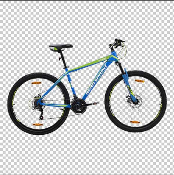 Bicycle background cut out image