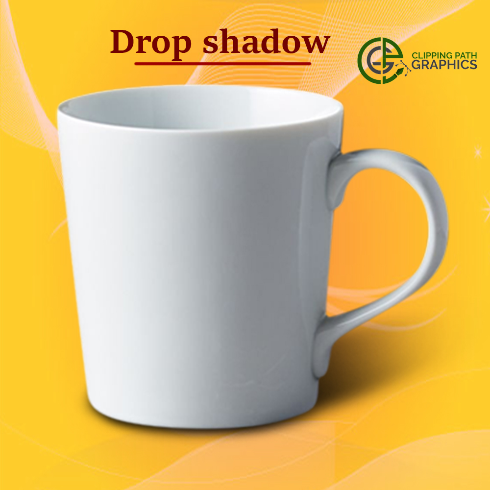Drop Shadow Cup image- Clipping Path Graphics
