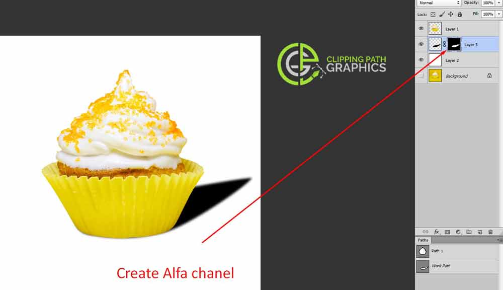 Create the alpha channel