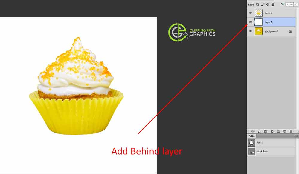 Create the new background-behind your isolated object