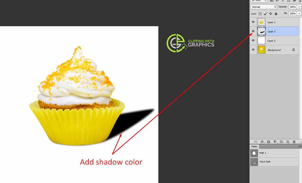 Determine the cast shadow color
