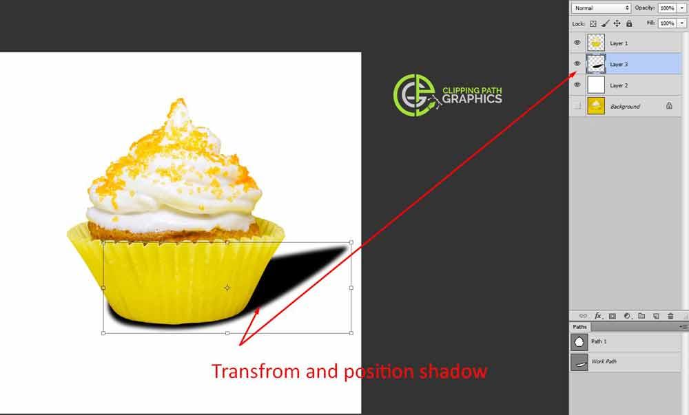 Distort the drop shadow