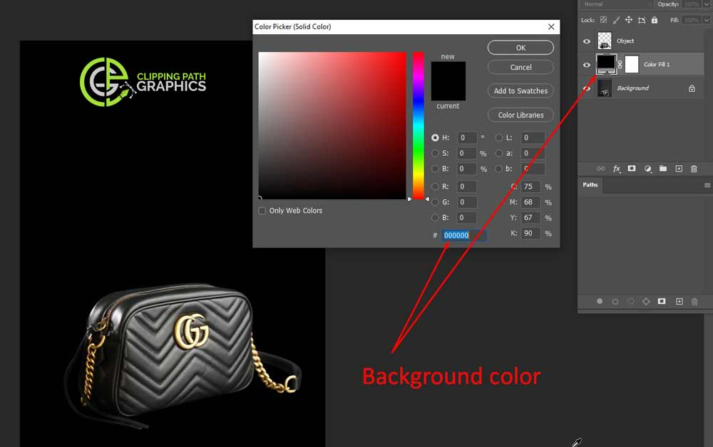 How to create the background