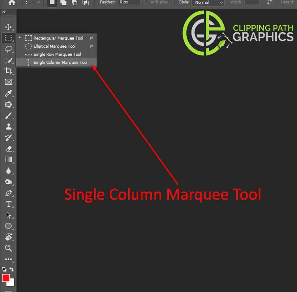 Single-Column-Marquee-Tool-Adobe Photoshop CC