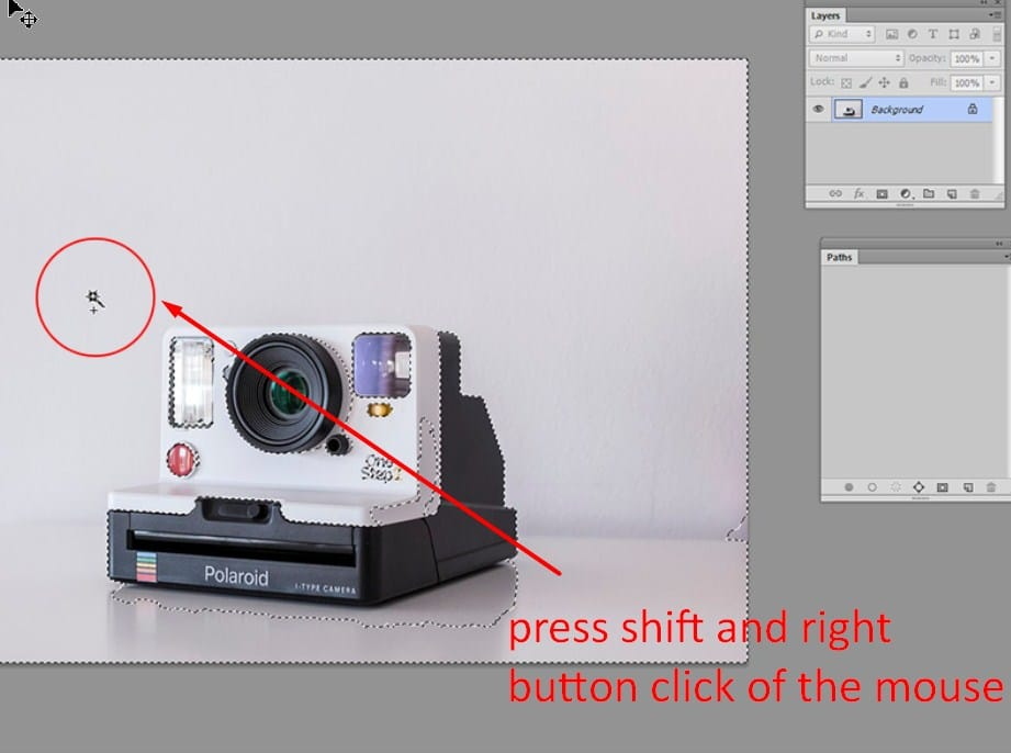 step 2-blank background in photoshop