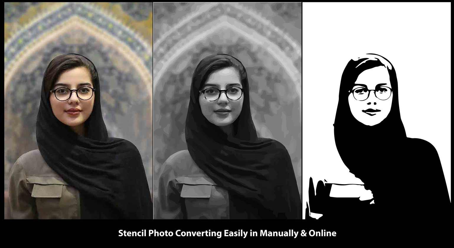 Make a photo into a stencil